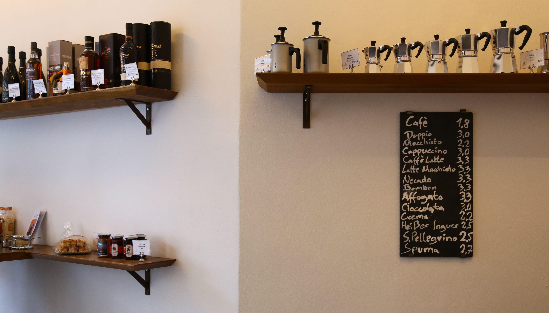 Getränkekarte-Espressokannen