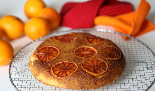 Blutorangen- Ricotta- Kuchen