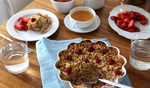 Wochenendfrühstück: Gebackene Haferflocken