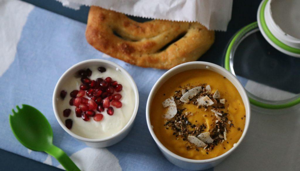 Kürbissuppe für die Lunchbox